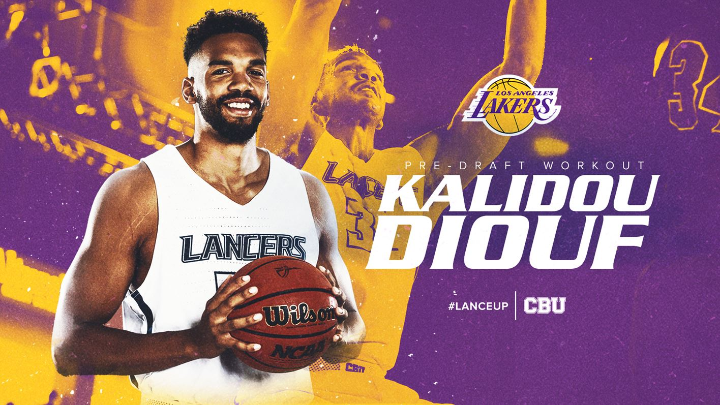 1d8ceda3f Lakers Invite Diouf to Pre-Draft Workout - CBU Athletics